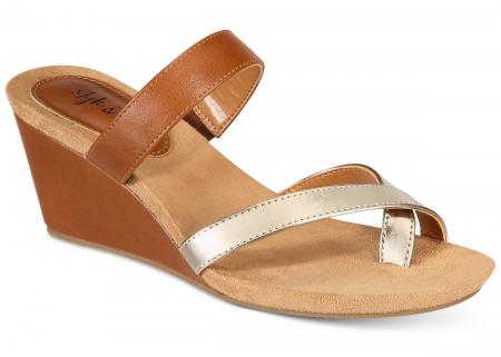 Madelaa Slip-On Wedge Sandals