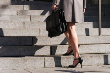 businesswoman feet