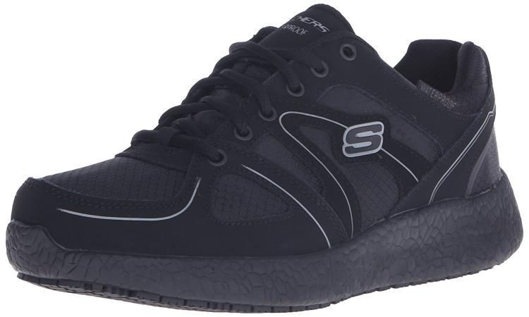 Skechers for Work Women's Burst Slip Resistant Gwinner Waterproof Work Shoe