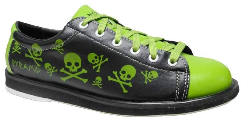 Pyramid Men's Skull Green/Black Bowling Shoes