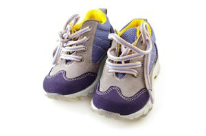 Image of purple toddler sneakers