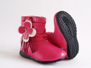 Pair of red toddler girl fashion boots