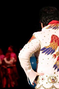 Image of Elvis Presley from behind
