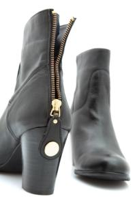 black boots back zipper