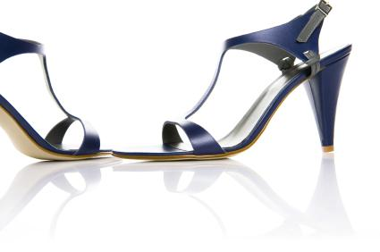 navy blue ladies shoe