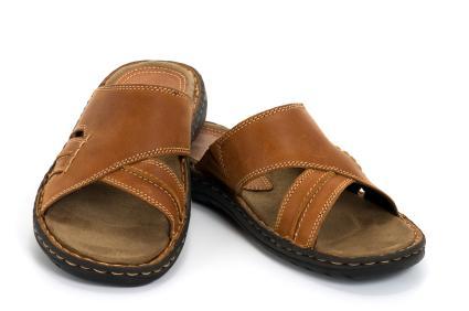 brown slide sandal