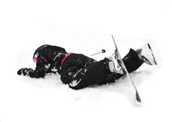 fallen skier
