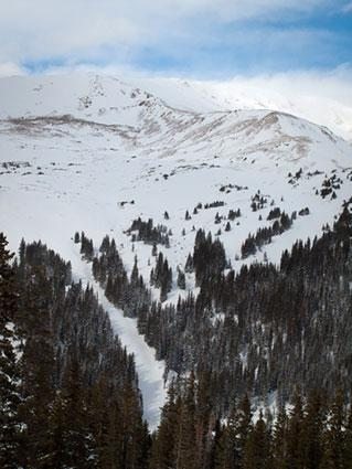 Skiing at Loveland Basin