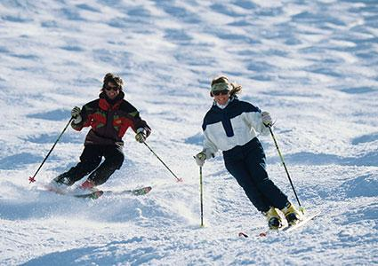 Mogul skiin