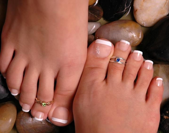 Sexy french pedicure with long toenails lovetoknow prinsesfo Choice Image