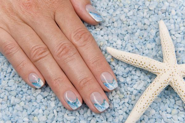 Beachy nail designs lovetoknow ocean inspired tips prinsesfo Image collections