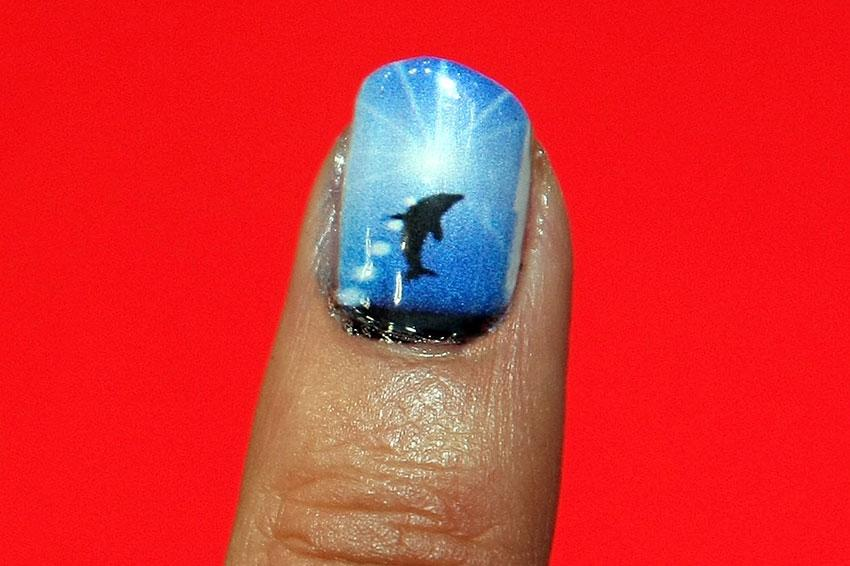 Beachy nail designs lovetoknow dolphin nails prinsesfo Image collections