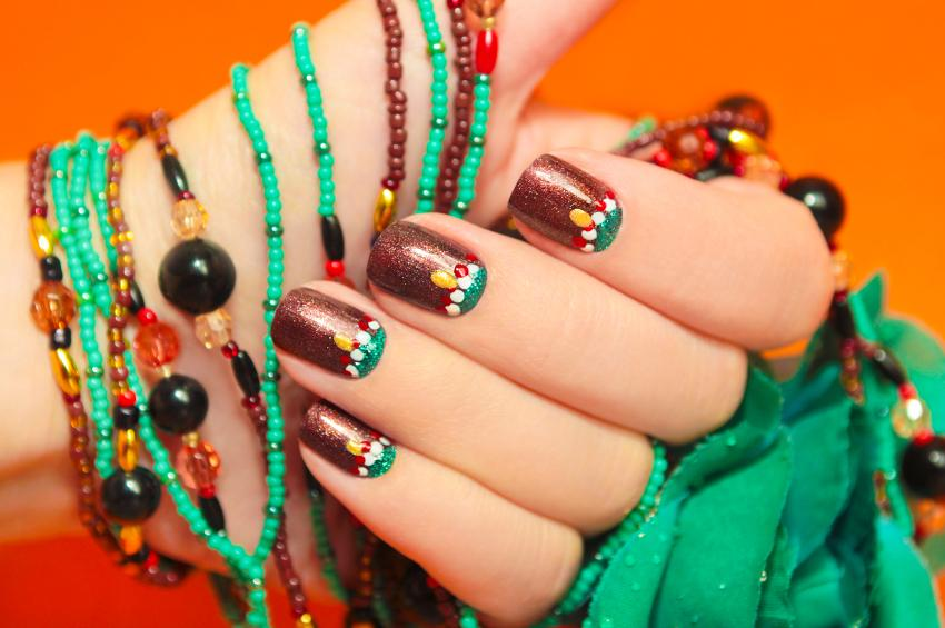 Tribal art nail designs lovetoknow tribal bead prinsesfo Gallery