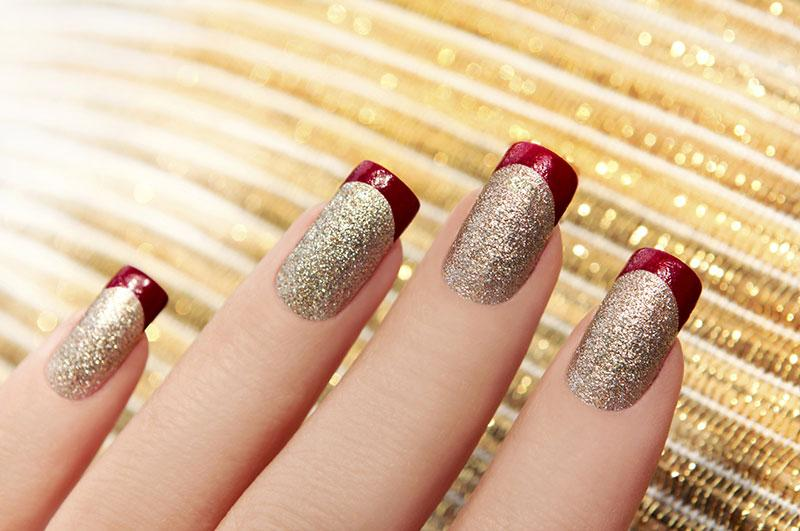 Christmas nail art pictures lovetoknow christmas nail art source green nails source gold glitter prinsesfo Choice Image