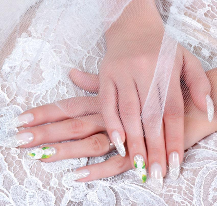 Lace Flower Nail Art Source Floral Design With 3D Bow