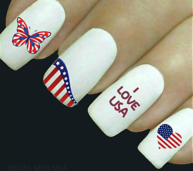 4th of july nail designs lovetoknow i love usa solutioingenieria Choice Image