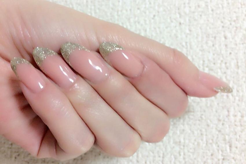 Glitter Nails Blush Pink Nails T Glitter Nails Blush Pink