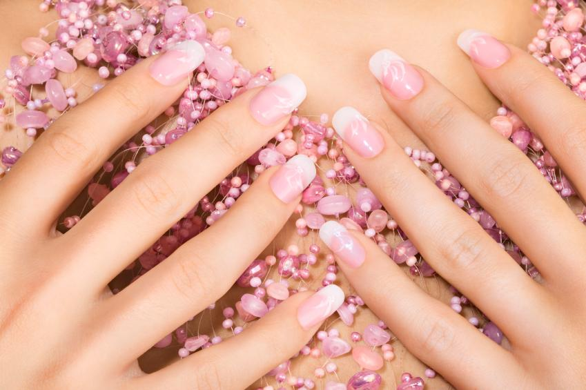 Pink nail designs lovetoknow pink nail designs prinsesfo Image collections