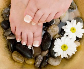 Sexy French Pedicure with Long Toenails