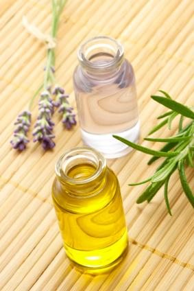 Lavender and rosemary essential oils