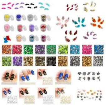 nail art stickers and jewels