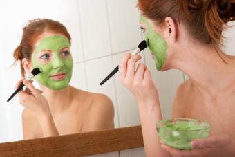 Green Tea Protein Powder Mask