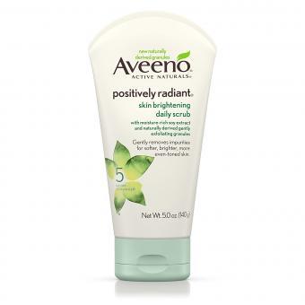 Aveeno Positively Radiant Scrub at Amazon