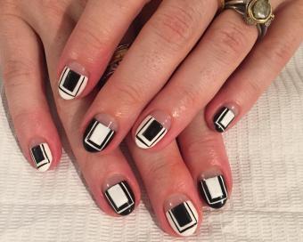 graphic manicure by Shakira Wilkinson