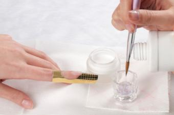 Manicure-acrylic nail