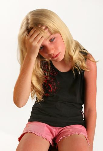 child with sunburn