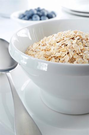 A bowl of oats