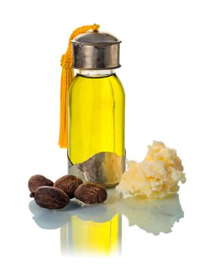Shea oil, butter and nuts
