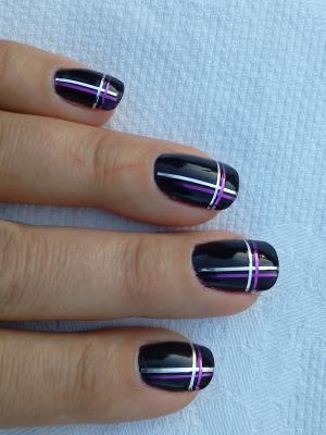 Nail glitter strip designs