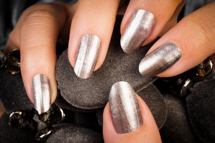 American manicure silver gray nails solutioingenieria Images
