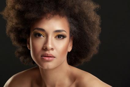 Portrait beautiful African-American woman