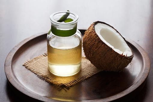 Coconut oil with fresh coconut