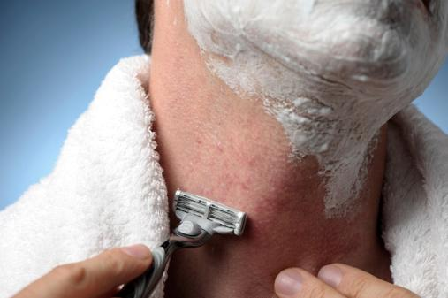 Man Shaving with Razor Burn