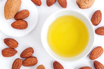 Bowl of homemade massage oil