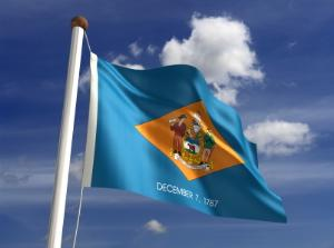 Photo of the state flag of Delaware