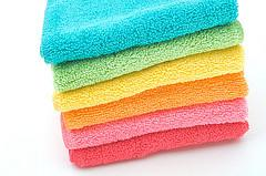 Colorful washcloths