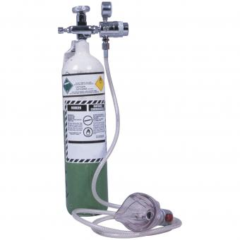 Oxygen tank and mask