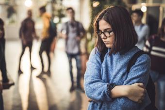 Teen feeling vulnerable