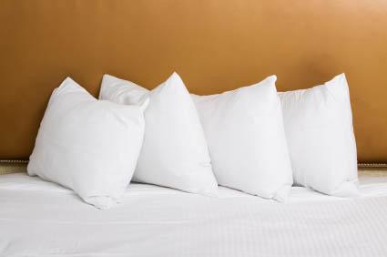 Pillows don't just belong behind the head
