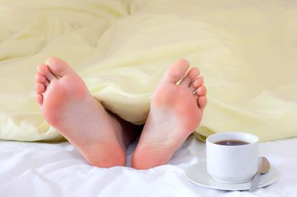 Too many blankets can cause night sweats.