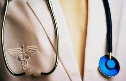 Physician Wearing Stethoscope