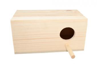 Image of a parakeet wooden nest box