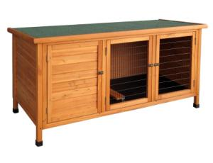 Two door wooden rabbit hutch