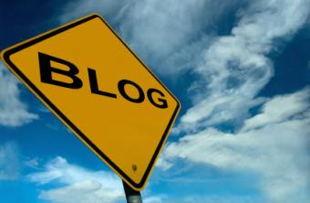 """road sign with the word """"blog"""""""