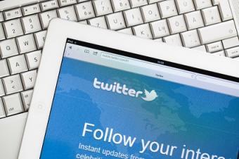 Twitter on an iPad