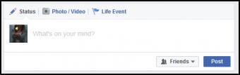 Status Update Screen in Facebook